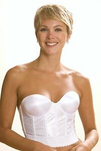 NWT QT Intimates WHITE Convertible Backless Strapless Underwire Bustier Bra 1710