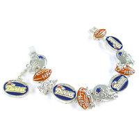Nfl Football England Patriots Fancy Silver Charm Bracelet on sale