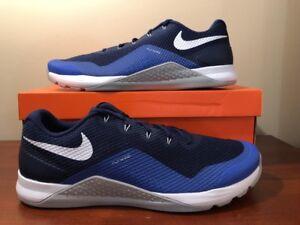 Nike Metcon Repper Dsx 898048 400 Binario Azul Blanco De Hombre Zapatos De Entrenamiento Talla 9 Ebay