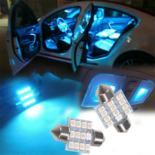 13pcs Pure Blue LED Light Interior Package Kit For Dome License Plate Lamp Bulb