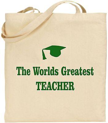 The Worlds Größte Lehrer Groß Baumwoll-tragetasche Schule Bildung Weihnachten