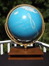 "Cram's 16"" Political Terrestrial Illuminated Globe 1985 Atlas Holder Base"