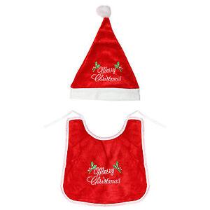 My First Xmas Baby Bib   Red Santa Hat Novelty Gift Set - Christmas ... 8767054cd6d