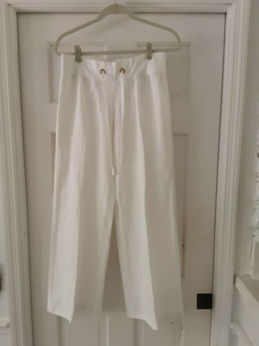 Lilly Pulitzer Linen Beach Pants  White  Size S