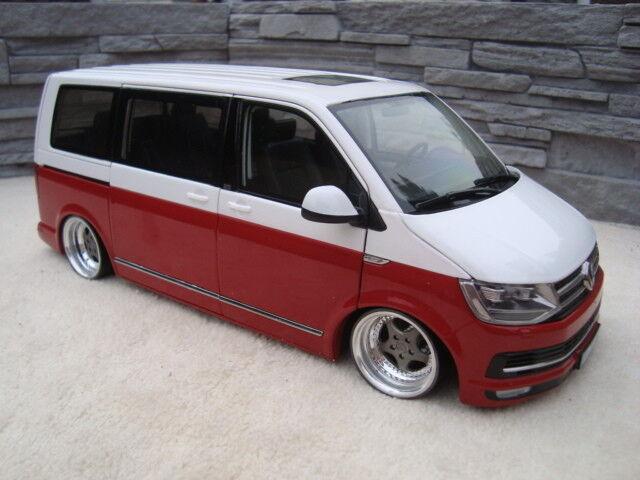 1 18 VW T6 bus Multivan mit 19 Zoll Porsche Cup Echt Alu Felgen Tiefer Tuning