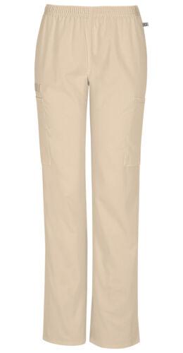 Scrubs Cherokee Workwear Petite Straight Leg Pant 44200AP KAKW Khaki