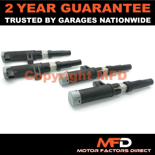 Mk2 1.4 4x Pencil Ignition Coil Packs Fits Renault Clio