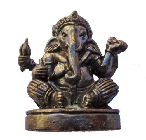 Figürchen statuette Ganesh Dekoration Sammlung Hinduismus bronze geschwärzt