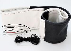 Lenkradschoner zum Schnüren Leder Schwarz Beige passend für MAN TGL TGM TGX