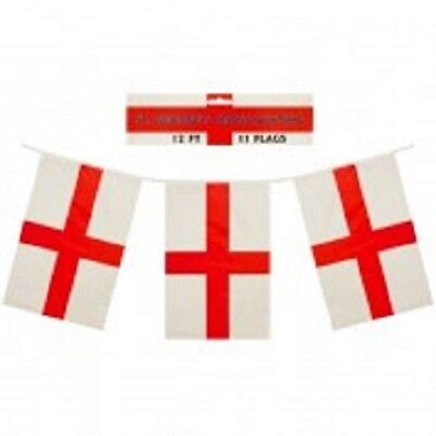 11 flags 12 feet in length new condiiton England St George  flag bunting