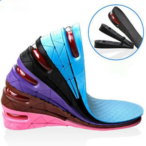 1-Pair-3-Layers-Air-Bubble-Cushion-Shoe-Lift-Height-Increase-Heel-Insoles-Taller