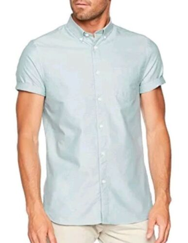 Teal Blu Burton Menswear London Oxford XX-Large