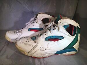 87e5d087dc27 VTG Nike Air Huarache 1992 171007-110 920406 Korea Red Green Neon ...