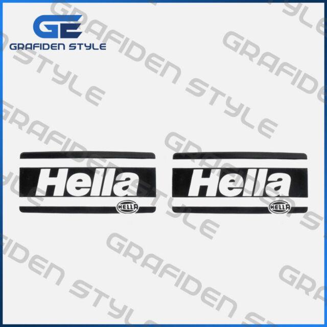 2 Stück  HELLA Aufkleber - Sticker - Decal - B18,5cm x H 8,5cm !