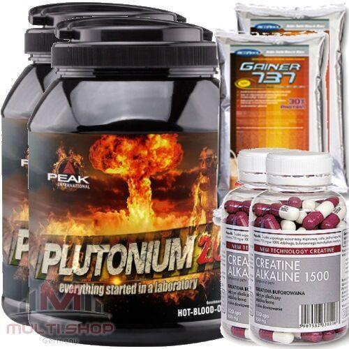 PEAK 2x Plutonium 2.0 1000g Pre Workout Workout Pre Trainingsbooster Muskelaufbau + BONUS 89f1f8