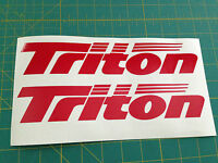 Triton Boats Sticker Decal You Get 2 Red Bass Boat