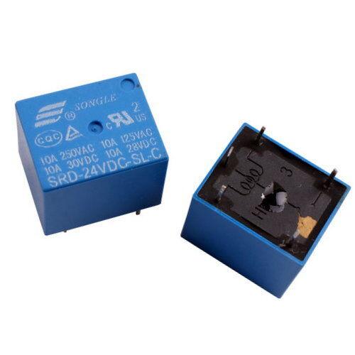 UK SELLER 5pcs SONGLE Mini Power Relay PCB type 24V DC coil SRD-24VDC-SL-C