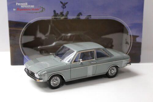 1:18 Signature Models Audi 100 LS grey 1972 NEW bei PREMIUM-MODELCARS