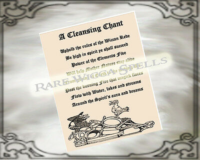 All Purpose Cleansing Chant Ritual Spell page for Wicca Book of Shadows  Grimoire | eBay