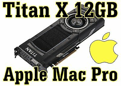 Nvidia Titan X 12GB compatible with Apple Mac Pro - 5K support - In stock