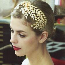 Leaf Leaves Band Gold Laurel Greek Toga Costume Roman Bride Crown Hair Headband