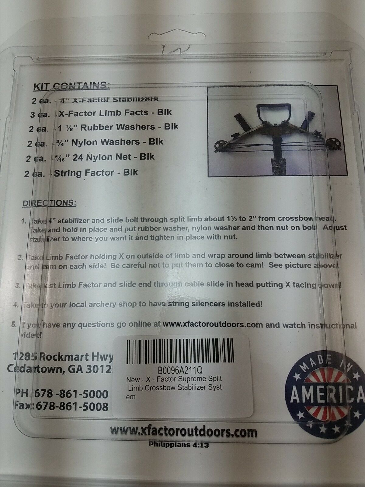 Xfactor Supreme Split Limb Crossbow Dampening System Made in America A0107 for sale online