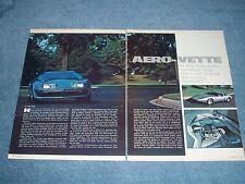 """1976 Corvette Concept Vehicle Vintage Info Article """"Aero-Vette"""""""