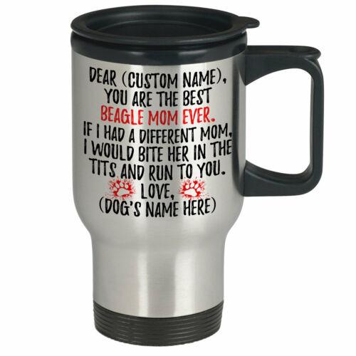 Details about  /Personalized Beagle Dog Mom Travel Mug Beagle Mommy Gift Dog Owner Women Gifts