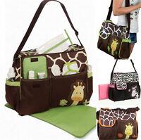 Multi Function Baby Diaper Nappy Changing Bag Changing Mat Mummy Tote Handbag
