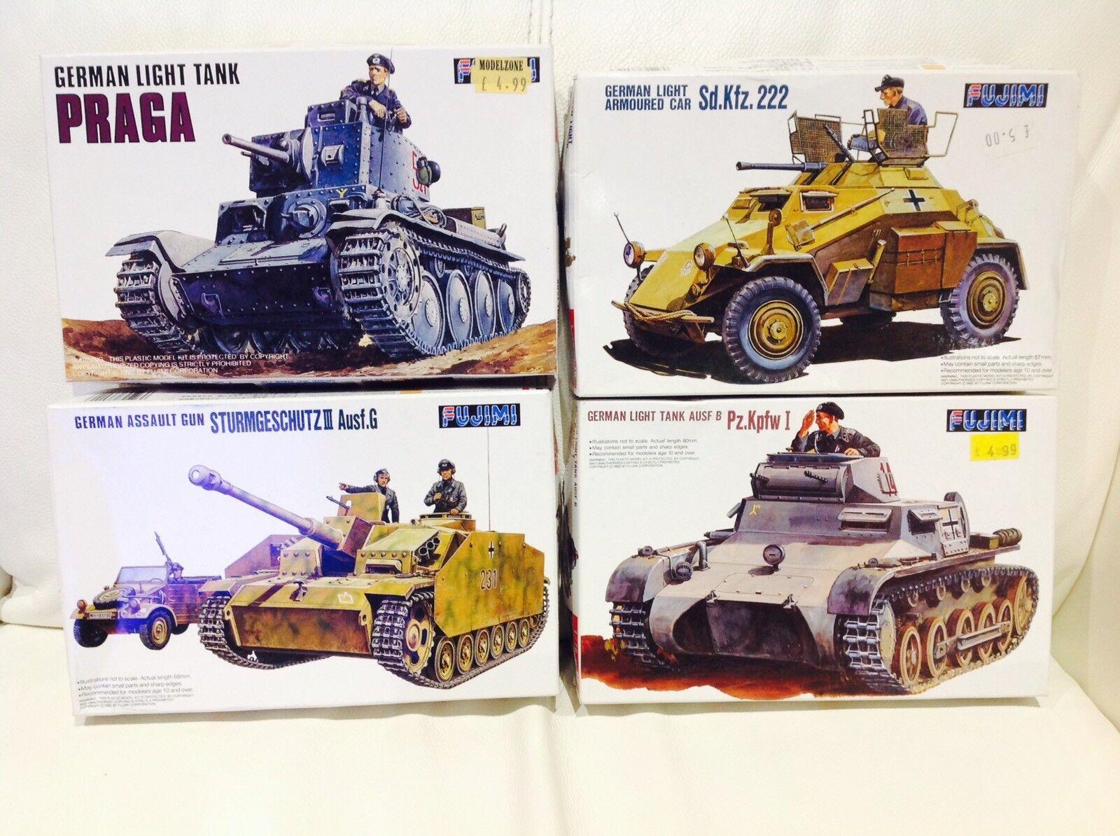 Fujimi 1 76 GERMAN  Tanks WW2,Model Kits Job Lot
