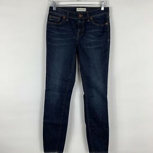 Madewell Jeans Women's Size 27 Skinny Skinny Mid Rise Dark Wash Preppy