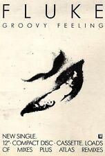 """4/9/93PGN20 FLUKE : GROOVY FEELING : SINGLE ADVERT 7X5"""""""