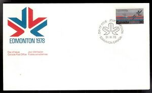 CANADA-1978-FIRST-DAY-COVER-758-BADMINTON-COMMONWEALTH-GAMES