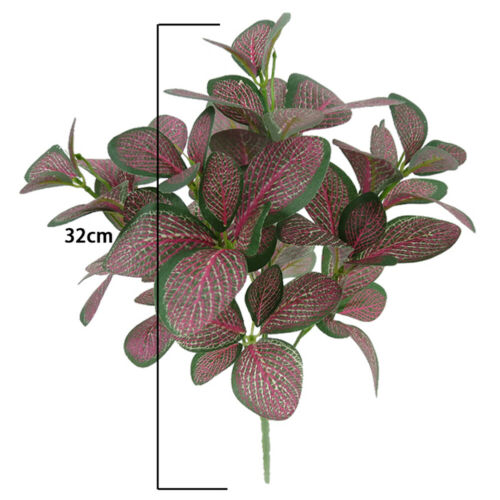Artificial Green Plants 5 Branches Fake Leaves Simulation Office Home Decor