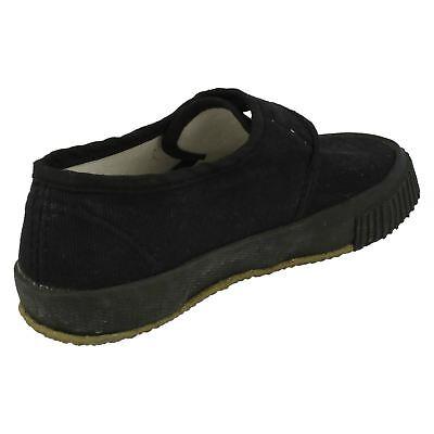 Children's SV1 Negro Textil Riptape escuela bombas de Sin Marca De £ 3.99 - £ 5.99
