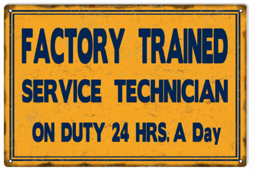 Factory Trained Service Station Gas And Motor Oil Sign