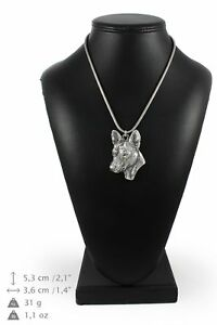 Basenji-silver-plated-pendant-with-silver-cord-Art-Dog-IE