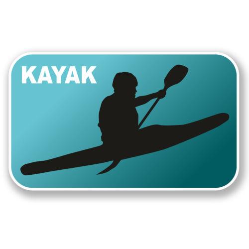 2 X 10 Cm Kayak pegatina de vinilo calcomanía portátil coche Kayak Canoa Regalo rafting # 6552