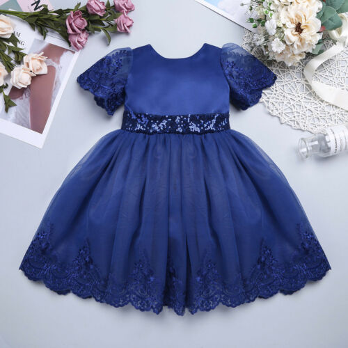 Baby Girls Sequined Dress Dresses Christening Wedding Bridesmaid Flower Girl