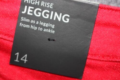 16 Jeans Bryant High taglia 14 Jegging Plus Red Lane rise e Skinny vT7Swq