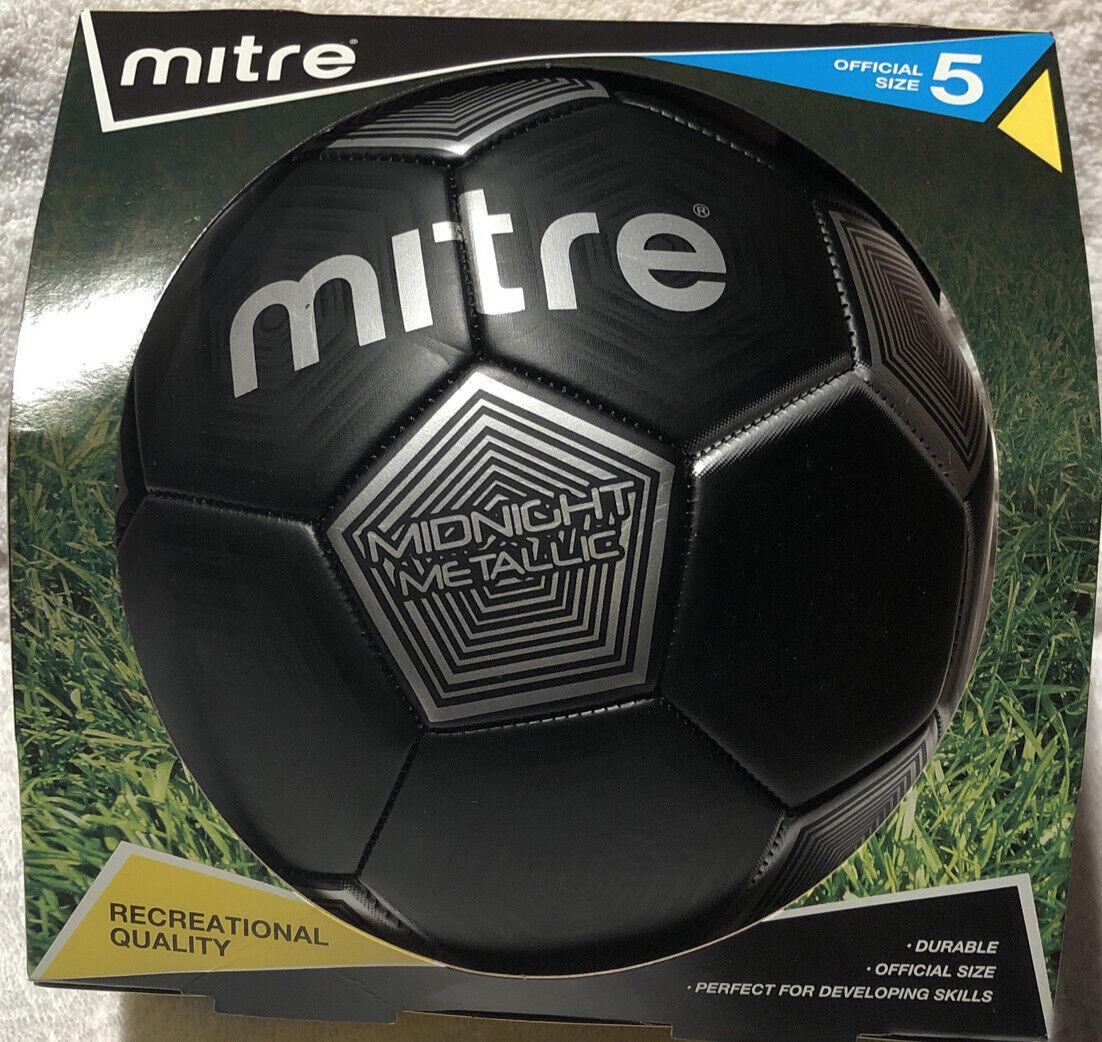 Mitre Midnight Metallic Black Soccer Ball Size 3  no box