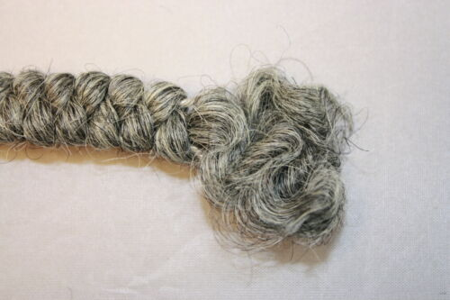 All Cooped Up Medium Gray Curly Crepe Woll Doll Hair