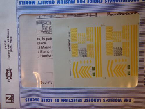 Microscale Decal N  #60-4251 Rutland Diesel