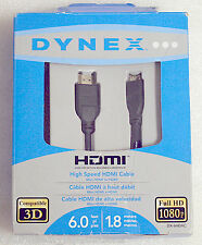 DYNEX HIGH-SPEED MINI HDMI TO HDMI (6FT. / 1.8M) FULL 1080P CABLE - DX-6HDAC