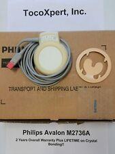 Philips M2736a Avalon Ultrasound Transducer 2 Yr Lifetime Crystal Warranty