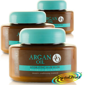 3x AO Hydrating Hair Mask with Moroccan Argan Oil Extract 220ml Conditioning