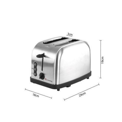 Deux fentes rapide Grille-pain Style Moderne Grille-pain réchauffer et dégivrage 900 W Argent