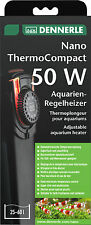 Dennerle Thermo Compact 50W Aquarium Heater semi-electronic LED 17-36C Nano 16cm