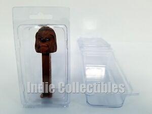 Pez-Spender-Blister-Schutzhuelle-Menge-von-3-Figur-Display-Schutz-Muschelschale-M