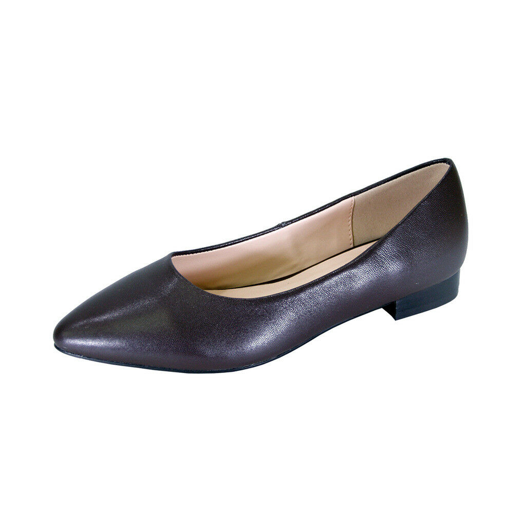 PEERAGE Tasha femmes Wide Width Classic Classic Classic Pointed Toe Leather Casual or Dress Flat 96c121